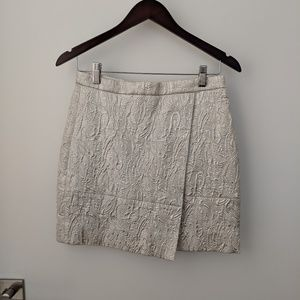 J Crew ivory holiday skirt